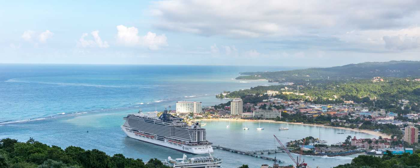 Ocho Rios view from Mystic Mountain