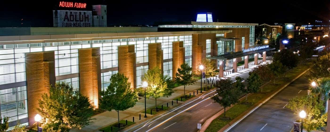 CMCC Exterior at Night