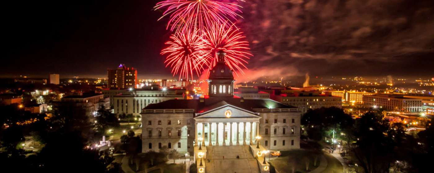 Fireworks over the SC State House