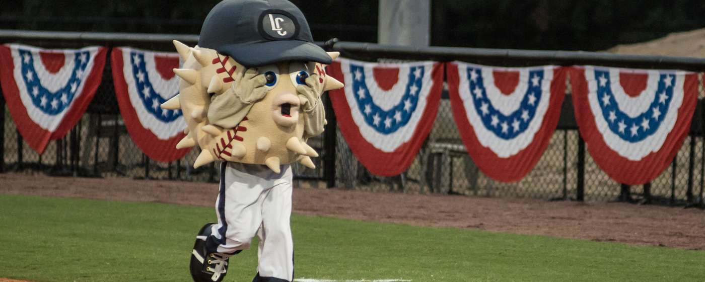 Lexington Blowfish Baseball Mascot