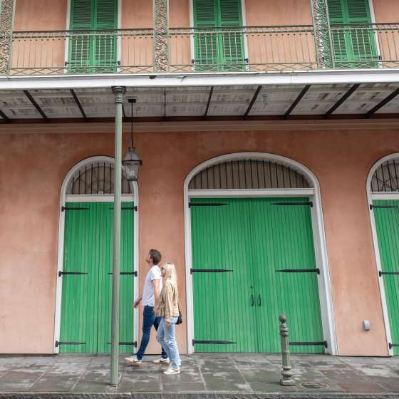 Exploring the French Quarter, Traveling Newlyweds