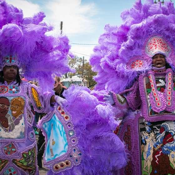 Super Sunday dos indígenas do Mardi Gras