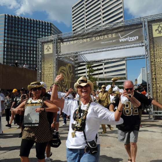 Saints-Game-Day am Champions Square