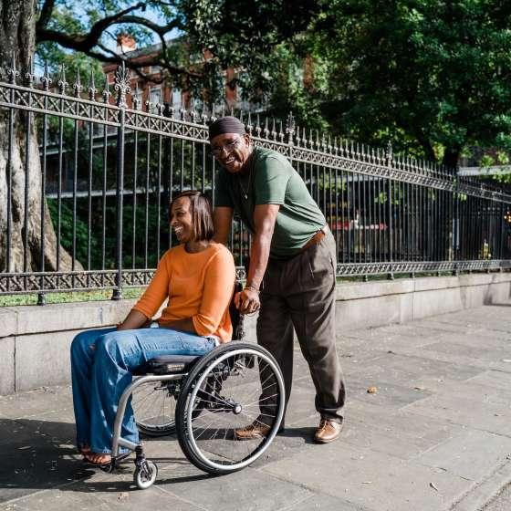 Visitar el Barrio Francés con silla de ruedas