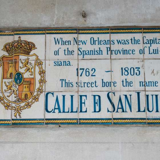 Spanish History Street Signs