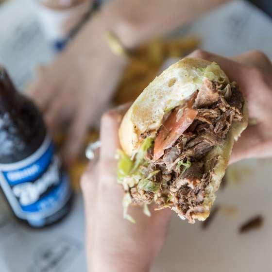 Roast Beef Po-Boy at Parkway Tavern