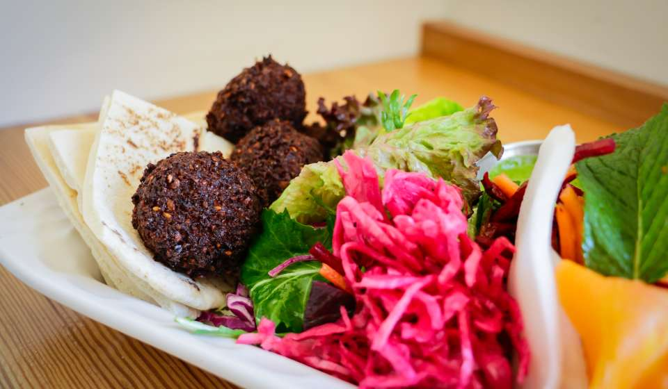 Falafel Sandwich at 1000 Figs