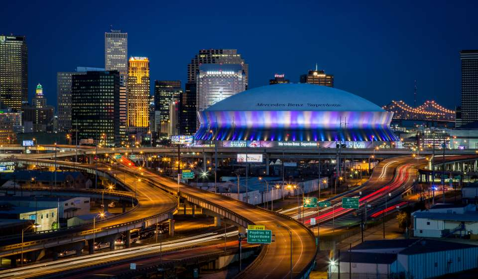 Superdome at Night
