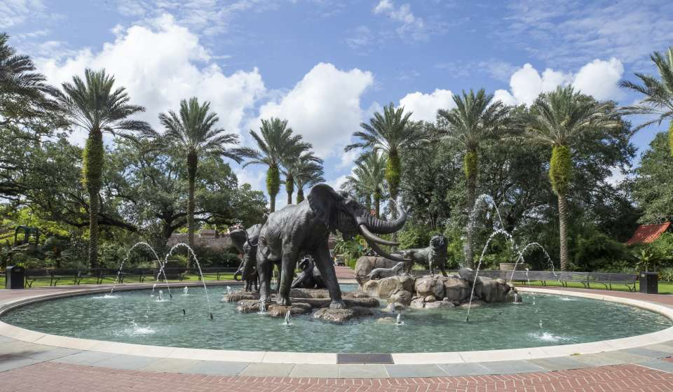 Elephant Fountain at Audubon Zoo