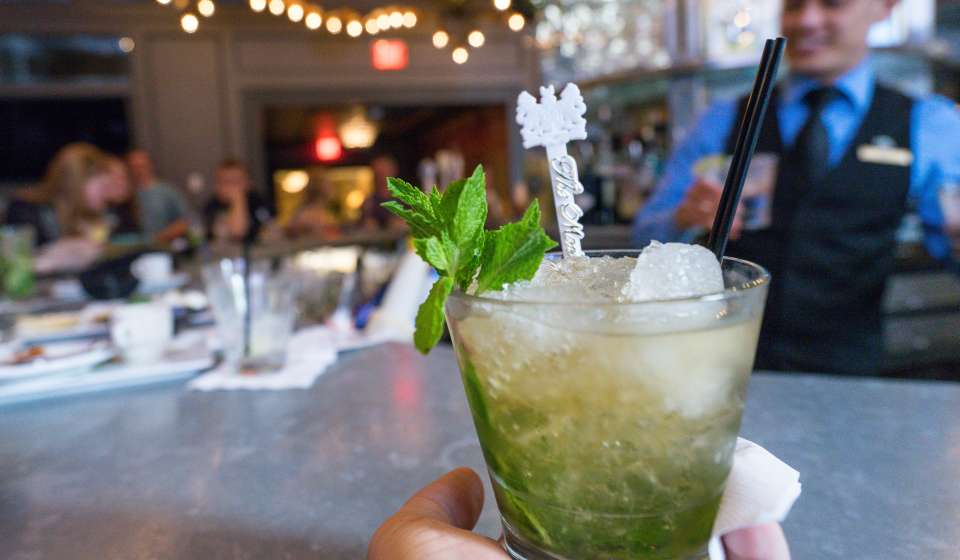 A Mint Julep at the Carousel Bar