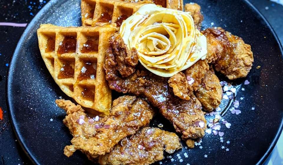 Glitter Chicken & Waffles  - Jack Rose