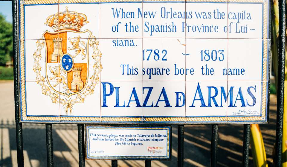 Spanish History Signs in the French Quarter