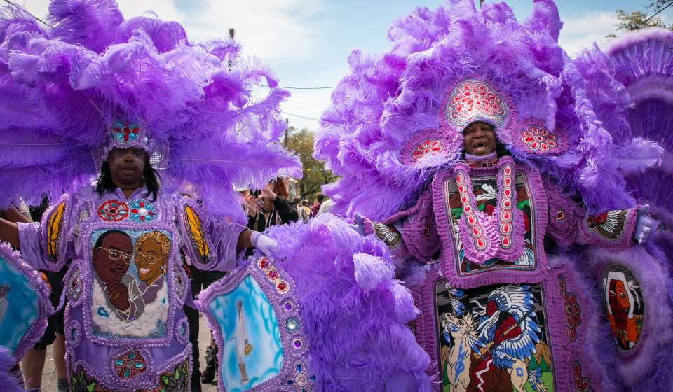 Mardi Gras Indians on Super Sunday