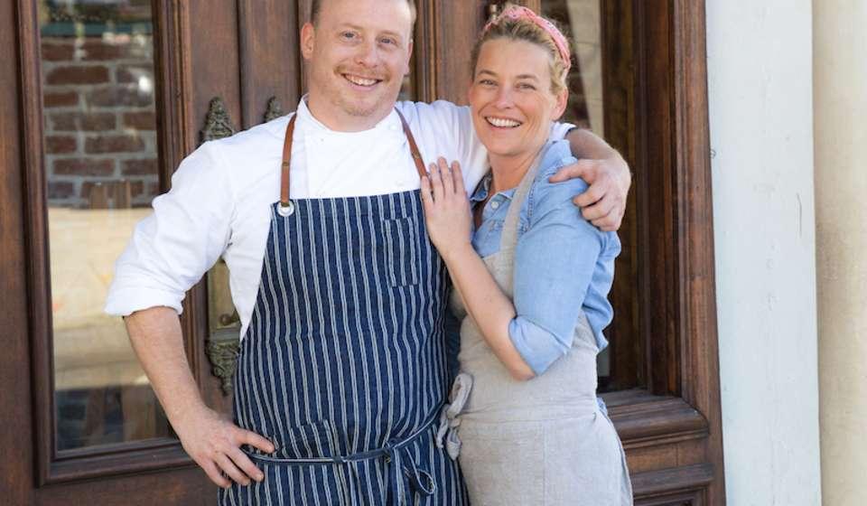Chefs Michael Stoltzfus and Kristen Essig