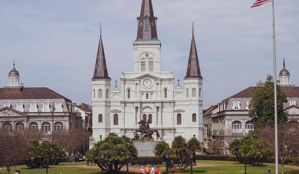 Jackson Square - St. Louis Cathedral - Springtime - French Quarter