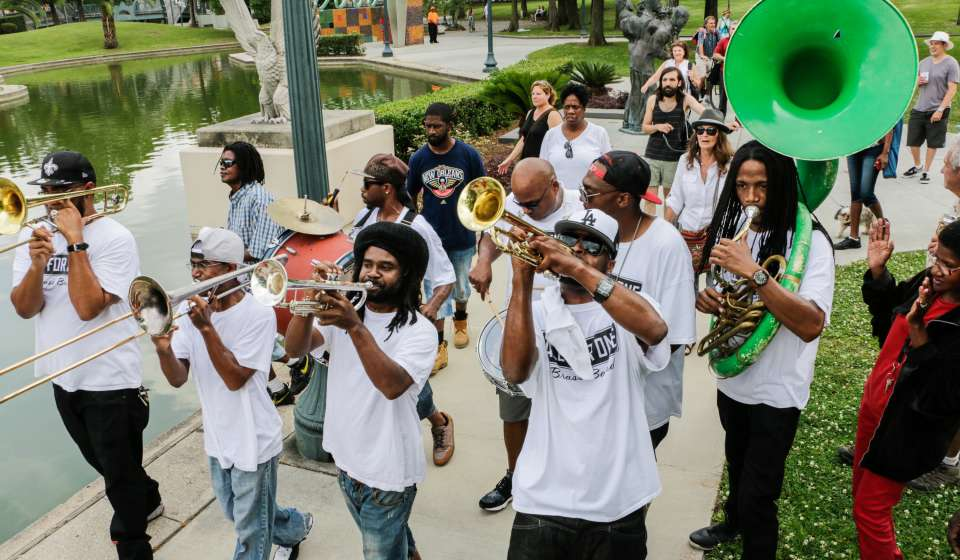 Jazz in the Park Second Line