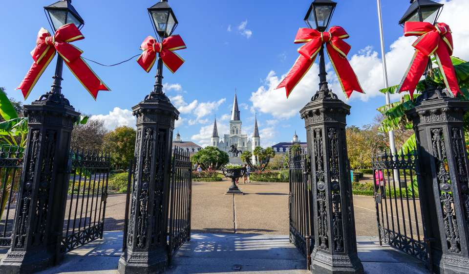 Jackson Square and St. Louis Cathedral - Christmas 2015