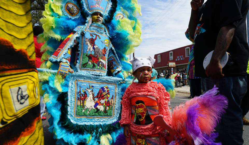 Mardi Gras Indians Super Sunday 2015