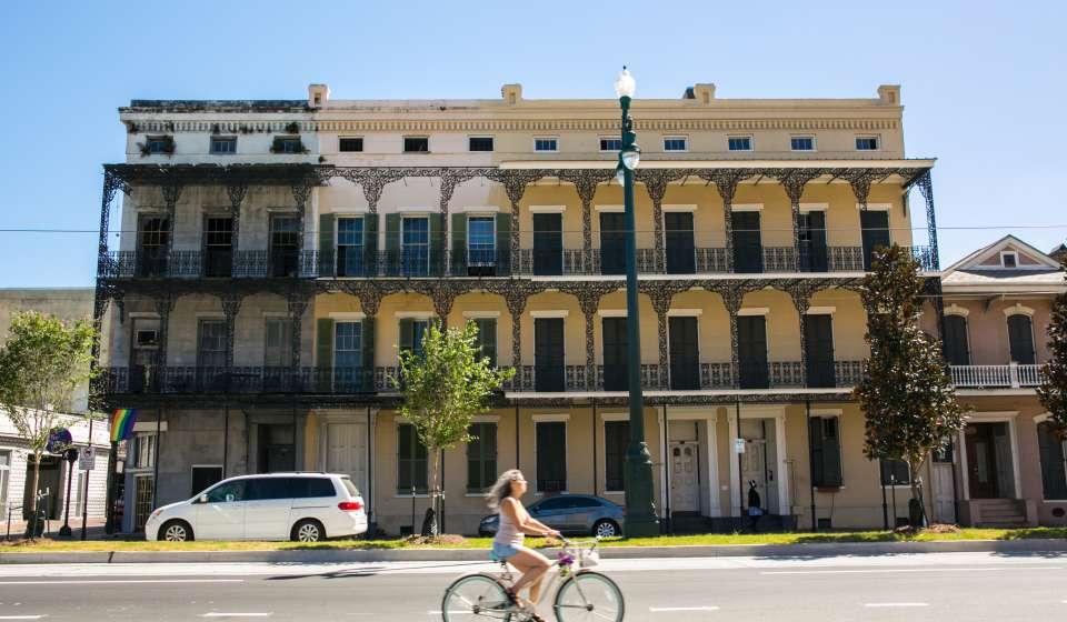 Rampart Street- Biking