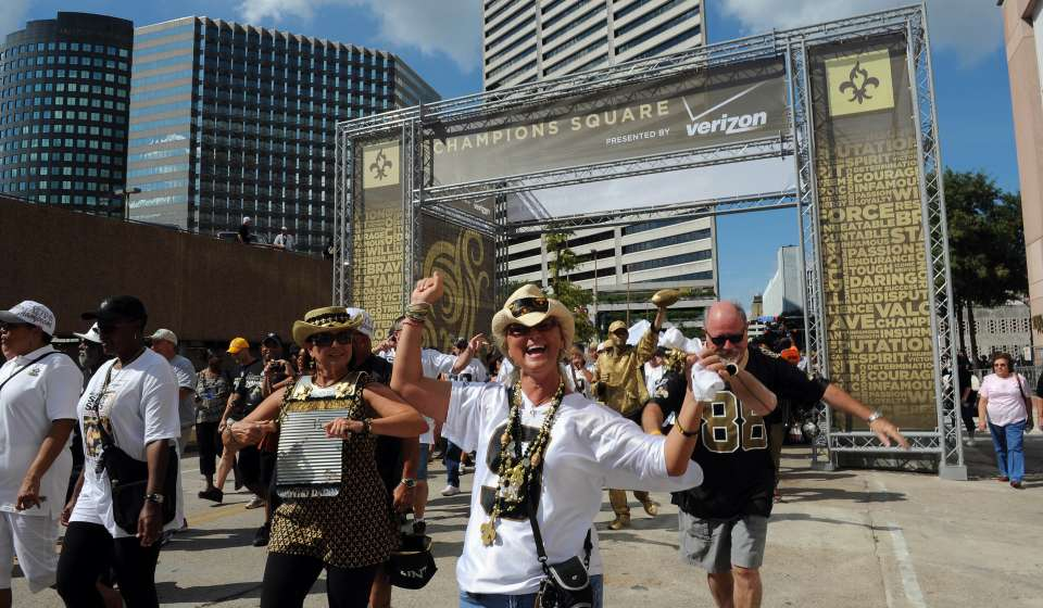 Saints Gameday in Champions Square