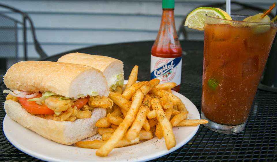 Dry Dock Cafe- Shrimp Poboy