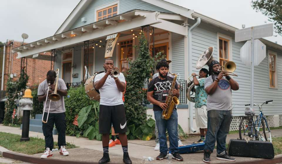 Brass Band at Sauvage and Ponce de Leon - Jazz Fest After Parties
