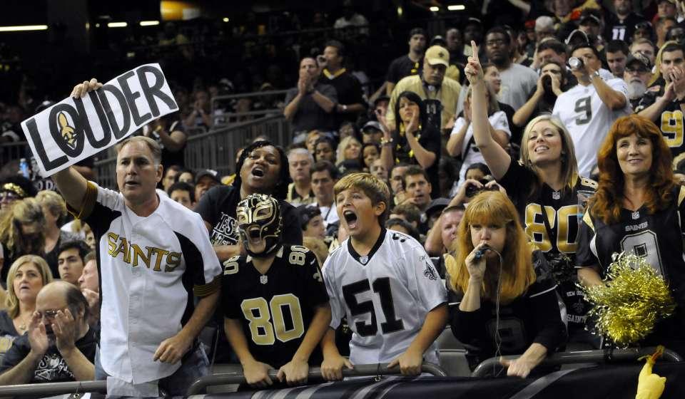 Saints Fans Cheering
