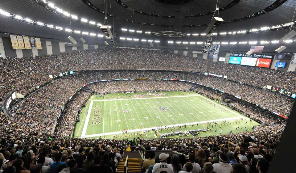 Saints Game in the Superdome
