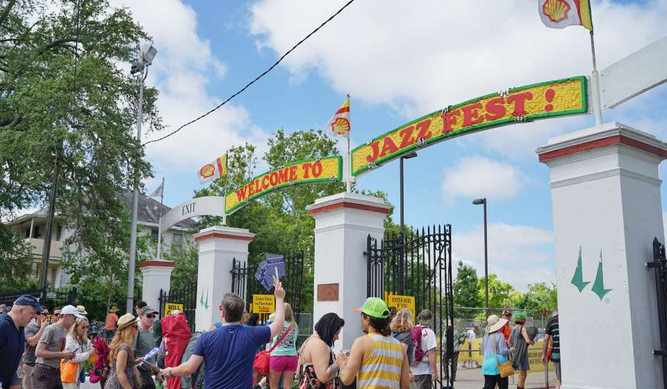 The Entrance to the New Orleans Jazz and Heritage Festival