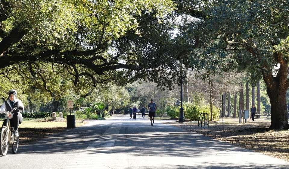 Audubon Park bike path