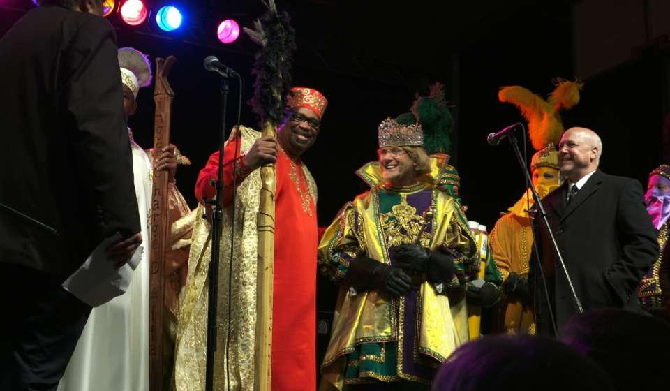 The Meeting of Rex and Zulu - Lundi Gras