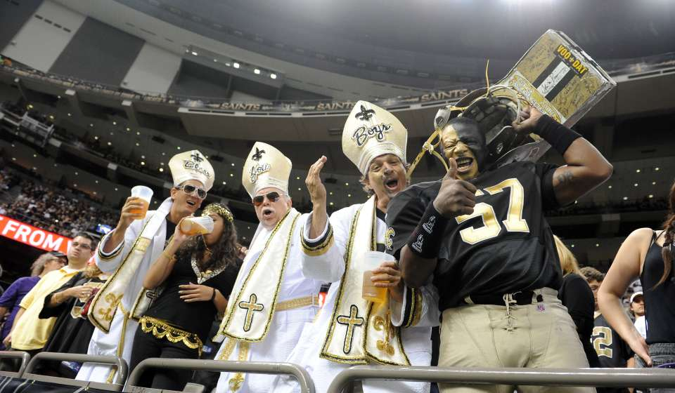 Saints Fans inside the Superdome