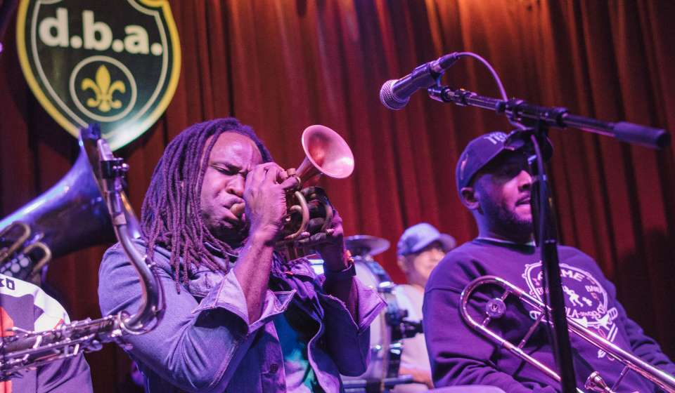 Shamarr Allen and Treme Brass Band
