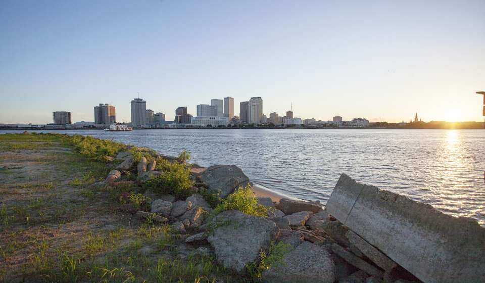 The view of the French Quarter from Algiers Point