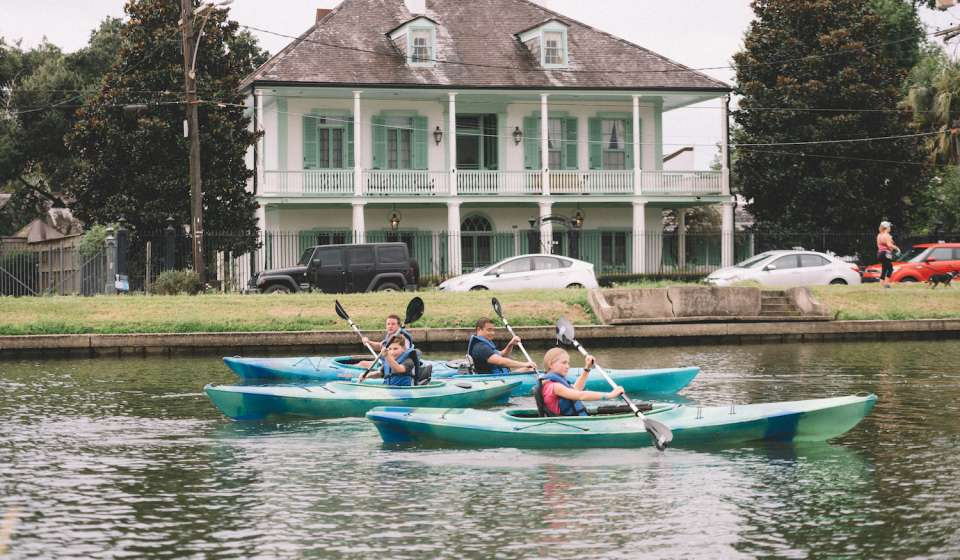 Kayaking on Bayou St. John