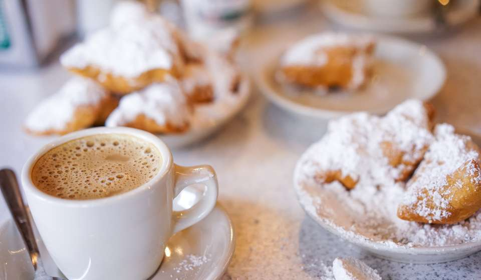 Beignets and Cafe au Lait - Cafe du Monde
