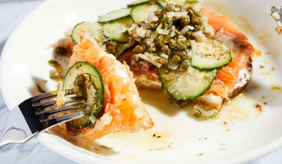 Salmon Toast - Birdy's