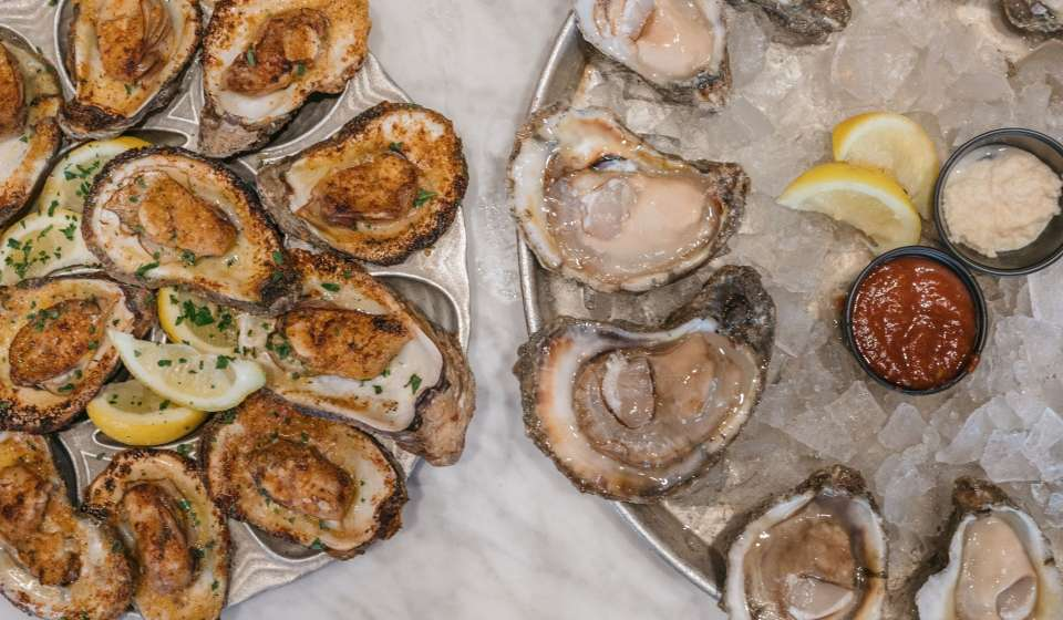 Chargrilled and Raw Oysters - Bourbon House