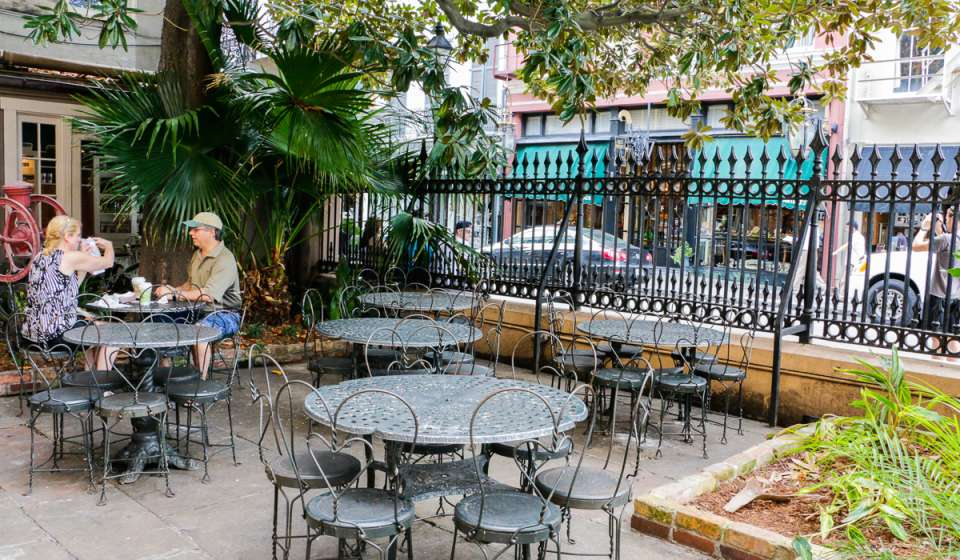 The Courtyard at Cafe Beignet
