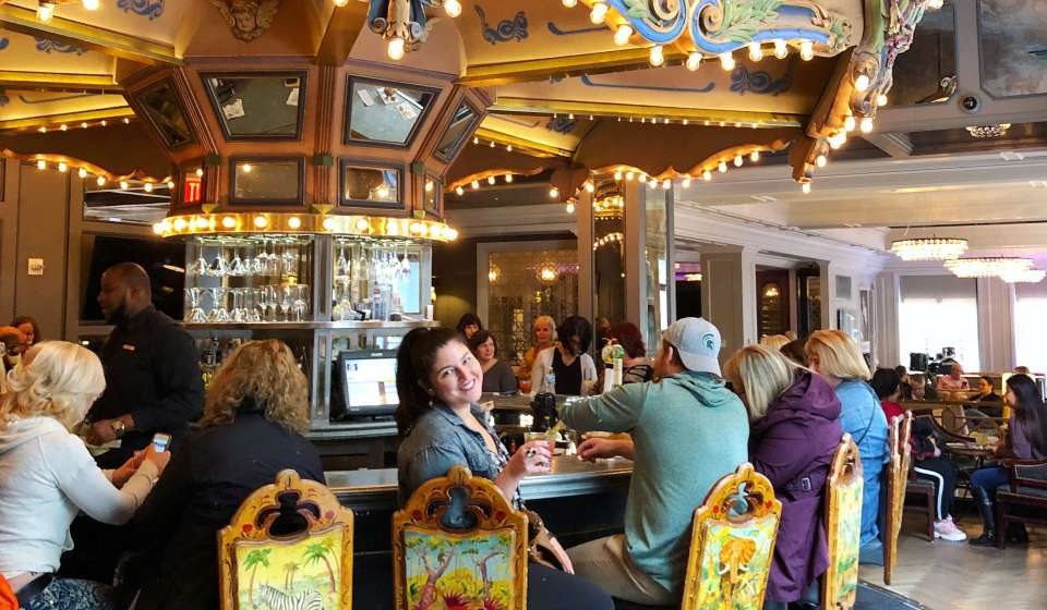 Drinks at the Carousel Bar