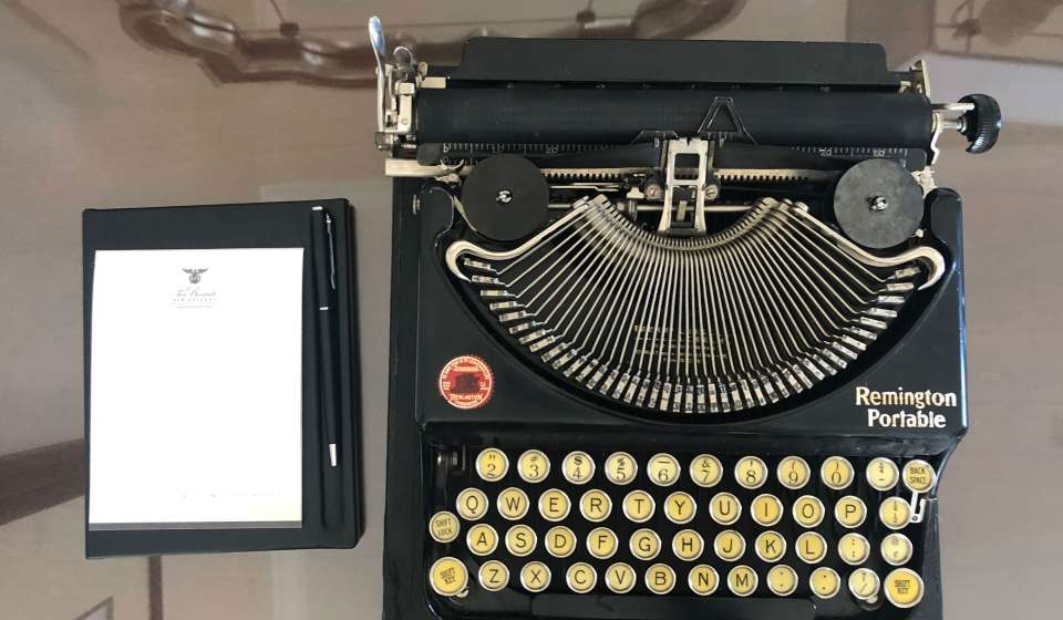 Cubs' Typewriter at Josephine Estelle