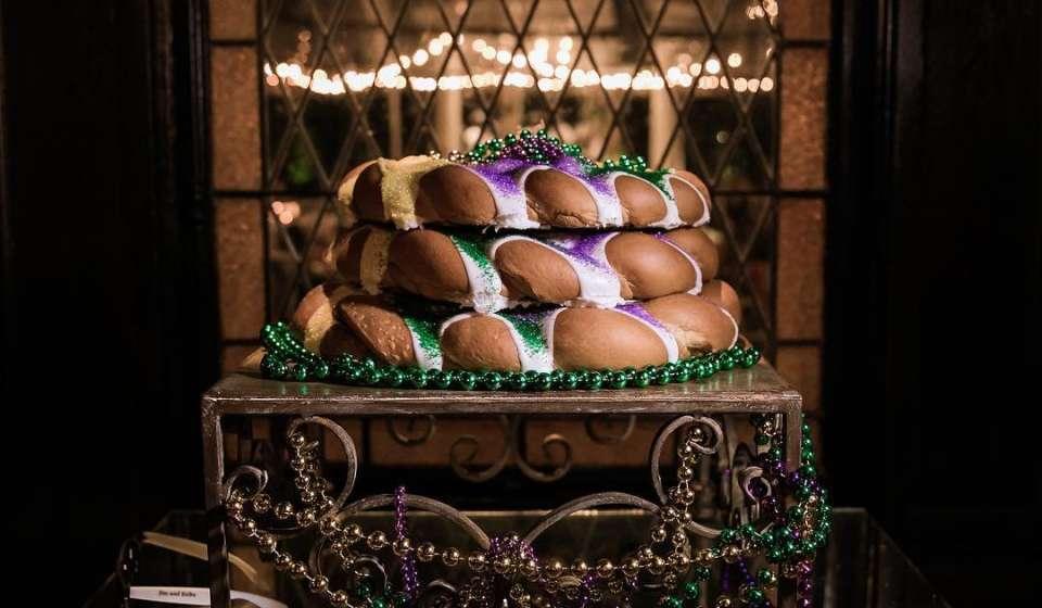 Mardi Gras Grooms Cake
