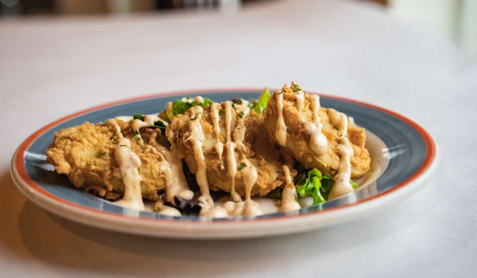 Fried Green Tomatoes - Cafe Dauphine
