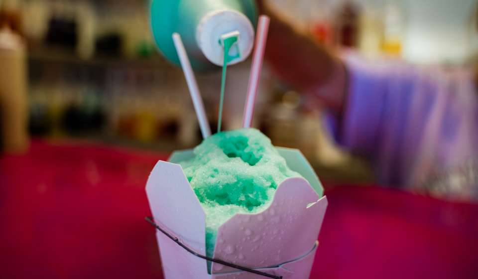 Frozen Mint Snoball - Plum Street Snoballs