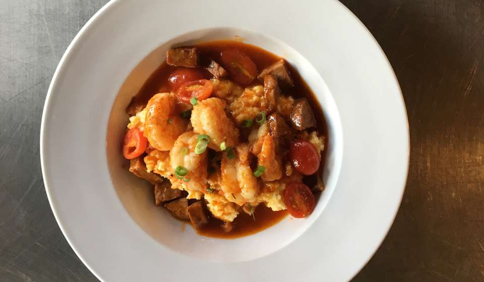 Shrimp and Gris Gris Grits