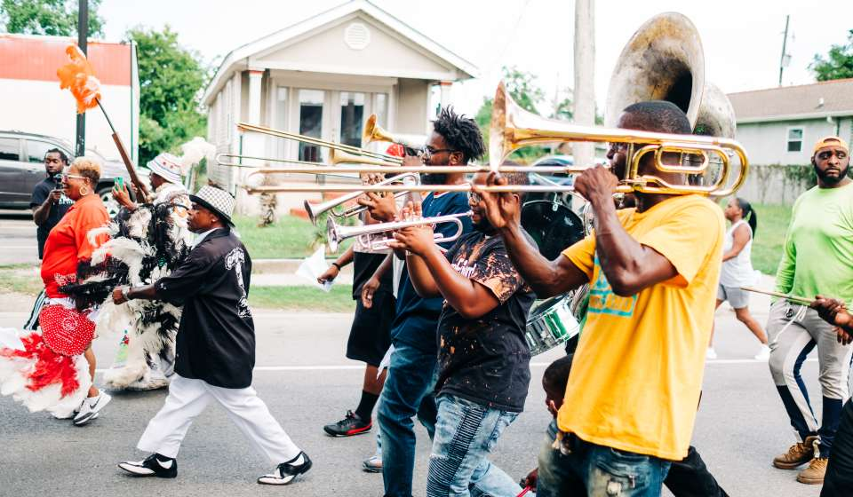 A Second Line to Commemorate the Anniversary of Hurricane Katrina