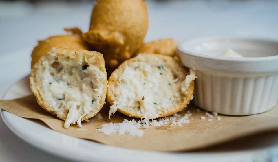 Blue Crab Beignets at La Petite Grocery