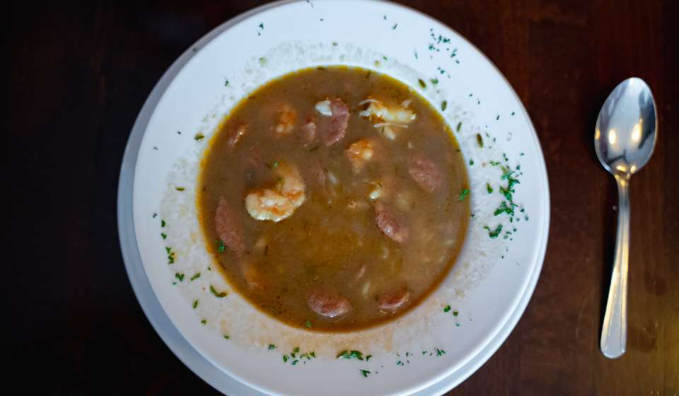 Gumbo at Neyow's Creole Cafe