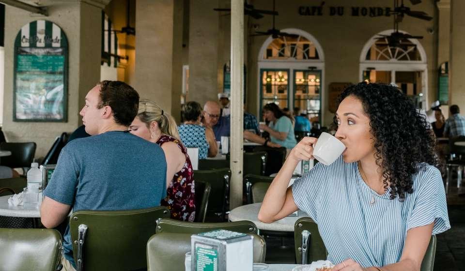 Rocio at Cafe du Monde