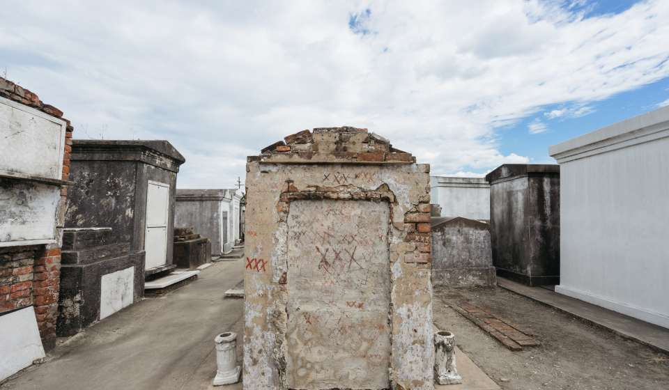 The Tomb of Marie Laveau - St. Louis Cemetery No. 1